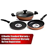 IBELL FKT2325 Copper Cookware Set Combo, 4 Piece (Black)