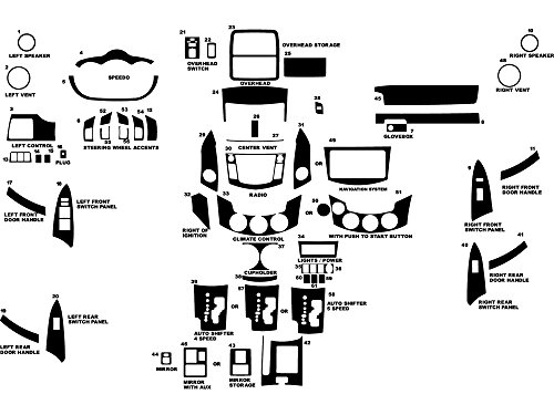 Dash Kits Toyota Wood (Rdash Dash Kit Decal Trim for Toyota Rav4 2006-2012 - Wood Grain (Burlwood Dark))