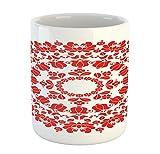 Red Mandala Mug by Ambesonne%2C Hungaria