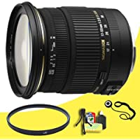 Sigma 17-50mm f/2.8 EX DC HSM FLD Large Aperture Standard Zoom Lens for Sony Digital DSLR Cameras + 77mm UV Filter + Lens Cap Keeper + Deluxe Starter Kit  DavisMAX Bundle
