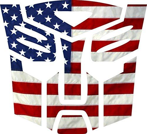 USA Flag Transformer Autobot window Decal Vinyl Sticker 6