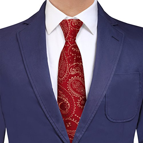 YAQB0030 Red Light Yellow Paisley Buy For Working Woven Jacquard Silk Tie Excellent For Bridegrooms Neck Tie By Y&G