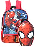 Marvel Boys' Spiderman Shaped Lunch Kit Backpack, Red, One Size
