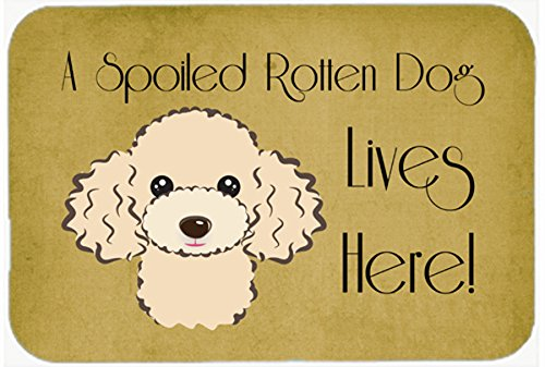 Buff Poodle Spoiled Dog Lives Here Kitchen or Bath Mat 24x36 BB1506JCMT   B011PZAOUO