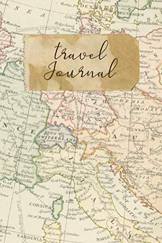 """Travel Journal: 6"""" x 9"""" Lined Blank Softcover 150 Page Notebook"""