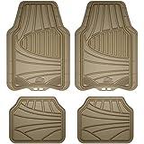 Armor All Custom Accessories 78842 4-Piece Tan All Season Rubber Floor Mat