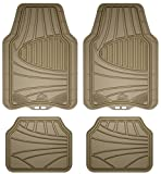 Automotive : Armor All 78842 4-Piece Tan All Season Rubber Floor Mat