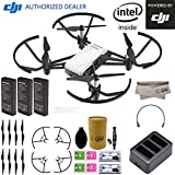 DJI Tello Quadcopter Drone Boost Combo with HD Camera and VR comes 3 Batteries 8 Propellers Powered by DJI Technology and Intel 14 Core Processor Coding Education Throw and Go
