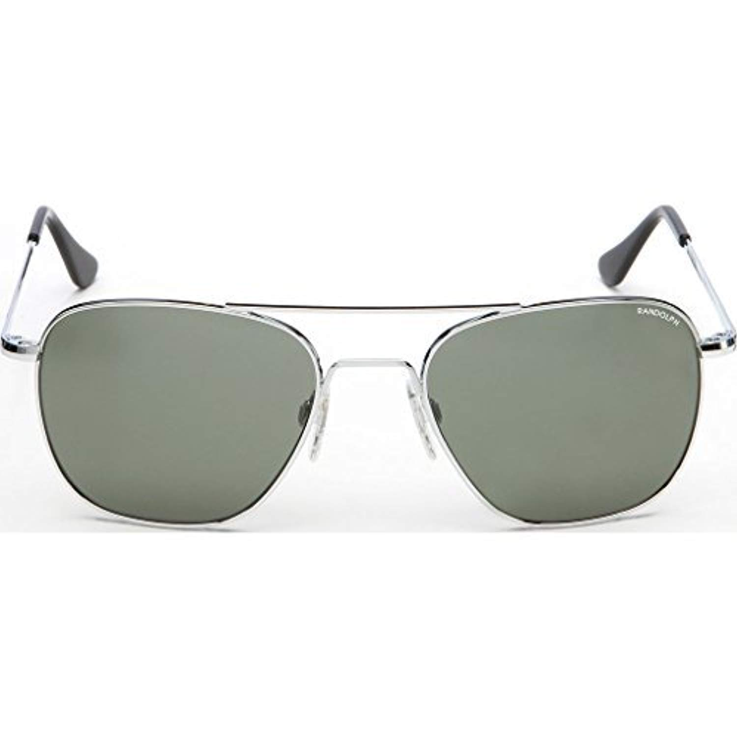 c66eb24723 Amazon.com  Randolph Aviator Bright Chrome Skull Temple Sunglasses  Clothing