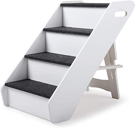 Amazon Com Sandinrayli Dog Steps 4 Steps For High Bed Pet Stairs Small Dogs Cats Ramp Ladder Pet Supplies