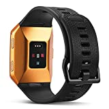 For Fitbit Ionic Bands, Marval Power Soft TPU Replacement Fitness Accessory Sport Straps Wristband for Fitbit Ionic Smartwatch Men Women, Large Small(Black, Large)