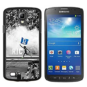 12 Estrella de fútbol- Metal de aluminio y de plástico duro Caja del teléfono - Negro - Samsung i9295 Galaxy S4 Active / i537 (NOT S4)