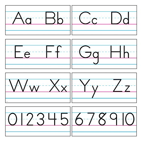 TREND enterprises, Inc. T-1858 Basic Alphabet Zaner-Bloser Manuscript Bulletin Board Set