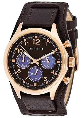 ORPHELIA Women's Chronograph Vogue Brown Leather-81505