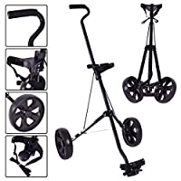 TANGKULA Lightweight Golf Pull Push Trolley Club Cart