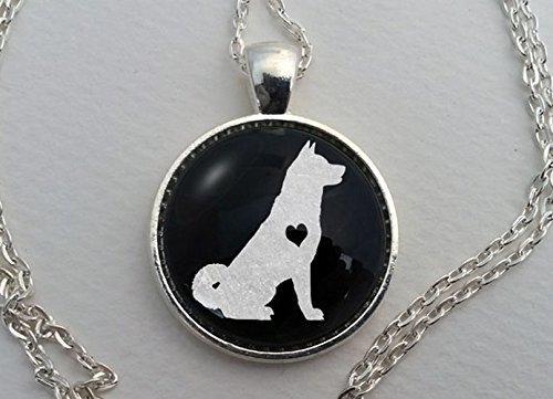 Custom Akita Inu Necklace, Glass Dome Pendant, Cute Dog Lover Gift, Round Art Cabochon Charm Jewelry, Pet Memorial Jewellery