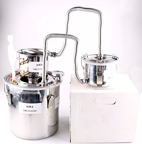 New 3 Pots DIY 5 Gal 20 Litres Alcohol Moonshine Ethanol Still Spirits Stainless Steel Boiler Water Distiller Wine Making Kit by WMN_TRULYSTEP
