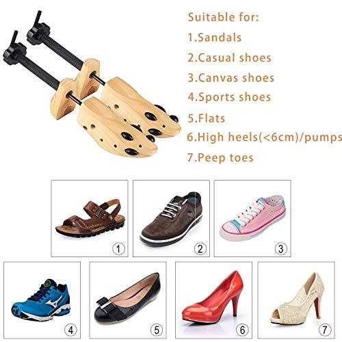 1f4adba619 2 Way Cedar Shoe Trees For Men Wooden Shoe Stretcher,Adjustable Unisex  Shaper Large Size for Men and Women ...
