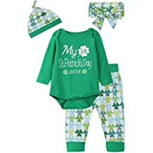 iCrazy Baby Boys Girls Outfit Set My First ST Patrick's Day Long Sleeve Romper
