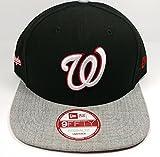 New Era Washington Nationals 9Fifty Black Logo Refreshed Adjustable Snapback Hat MLB
