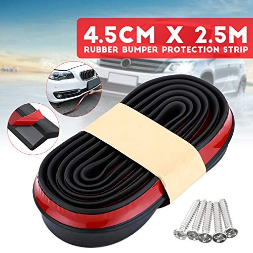 - Car Front Bumper Splitter Protection Lip Body 250x4.5cm with 8 Screw