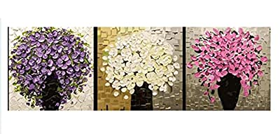 [WOODEN FRAME]Diy Oil Painting Paint By Number Kit-The Flowers Of Rich(3) 24*24 Inch