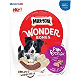 Milk-Bone Wonder Bones Paw Rockers with Real Beef, Long Lasting Dog Treats, Small-Medium, 22 Ounce Pouch