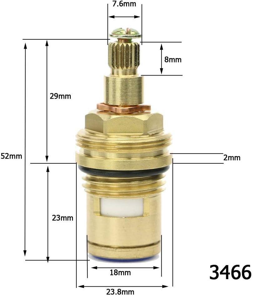 Moapei Tap Valves Replacement Brass Ceramic Stem Disc Cartridge Faucet Valve Quarter Turn 1//2 for Bathroom Kitchen Tap 1 Pair Hot /& Cold