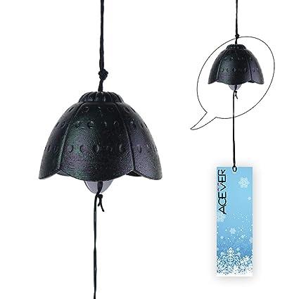 Amazon.com: Campanilla de viento japonesa de hierro fundido ...