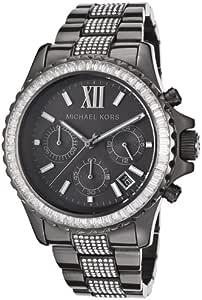 Michael Kors Women's Black Dial Stainless Steel Band Watch [MK5829]