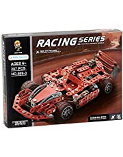 Aole Toys 869-3 Racing Car Shaped Meccano Construction Toy - 287 Pieces
