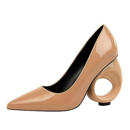 1d15547f8d734 JRenok Pompes de Concepteur de Talons Aiguilles de Femmes Fashion découpes  Style étrange Talons Chaussures en