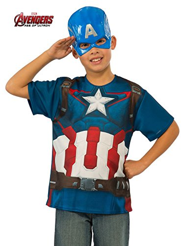 Rubie's Costume Avengers 2 Age Of Ultron Child's Captain America T-Shirt and Mask
