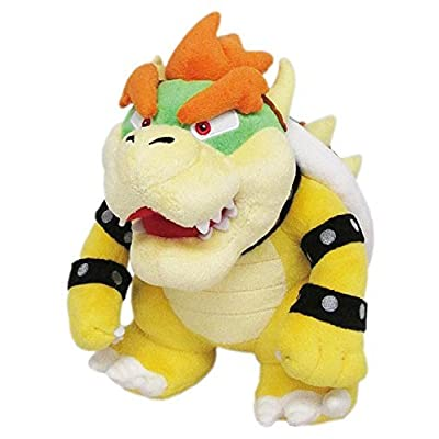 "Busting Baby Products Super Mario 10"" Bowser Soft Stuffed Plush Toy Yellow: Toys & Games"