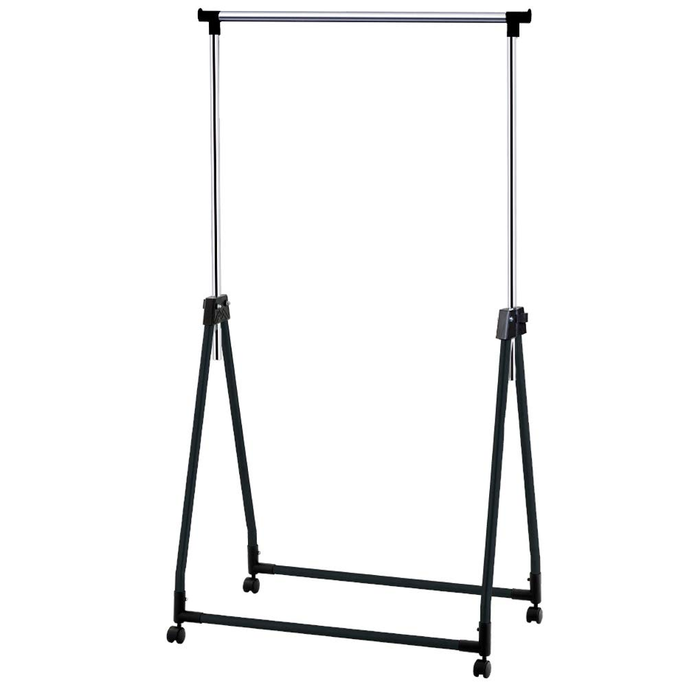 Tatkraft Halland Sturdy Collapsible Portable Clothes Rail Adjustable Clothes Hanging Rail with Wheels, Chromed Steel AX-AY-ABHI-84048