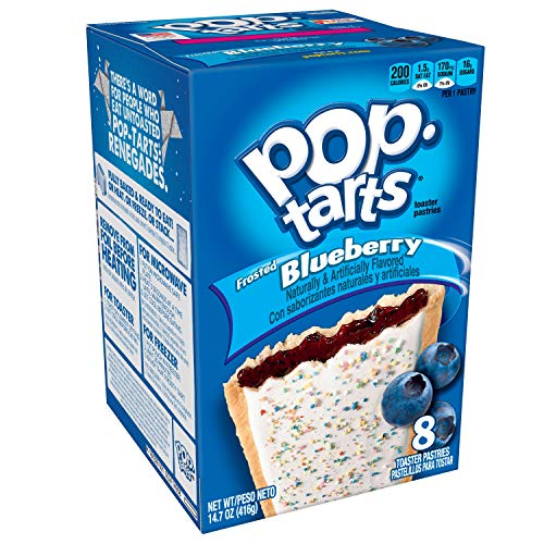 Pop-Tarts Breakfast Toaster Pastries, Frosted Blueberry Flavored, 14.7 oz (8 Count)