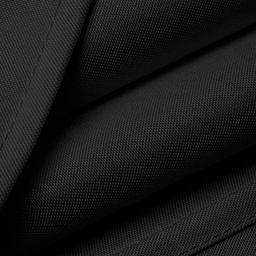 Mill & Thread - 6' Premium Fitted Tablecloth for 72'' x 30'' Rectangular Table - Wedding/Banquet / Trade Show - Polyester Cloth Fabric Cover - Black by Mill & Thread (Image #2)