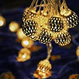 LED Globe String Lights, Moroccan Globe String
