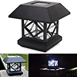 Bazaar 1.2V Garden Lawn Solar White LED Pillar Lamp Outdoor Cottage Courtyard Fence Light