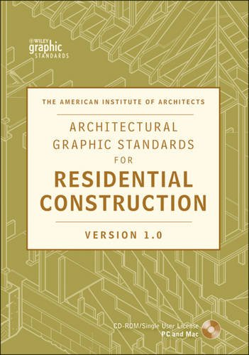 Architectural Graphic Standards for Residential Construction 1.0 CD-ROM