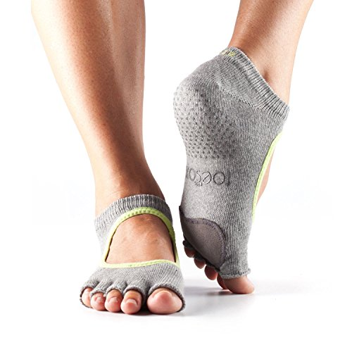 Toesox–Calcetines Plie baile calcetines–1par Grey/Lime