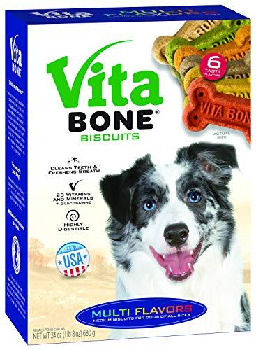 - Vita Bone Multi Flavors Dog Biscuits Medium 24 oz. Box