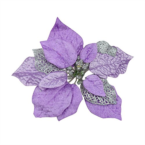 Luxury 8 Inch Glitter Artificial Christmas Flowers XMAS Tree