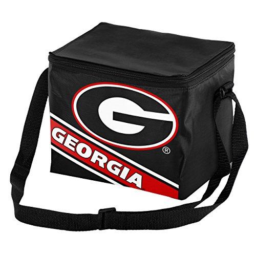 [Georgia Big Logo Stripe 6 Pack Cooler] (Georgia Stripe)