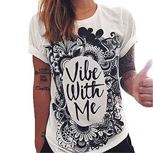 Maglietta Allentata Girocollo Gufo T Wings Corte Lettere di Colore Donne Donna Camicie Bluse Maglietta a Solido Faith Shirt della Modello 02 Maniche Occhio Stampa e Stampa OFCxqaqRw