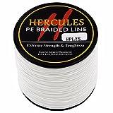 Hercules 100m 109yds White 10lbs-300lbs Pe Dyneema Braid Fishing Line 8 Strands (200lb/90.7kg 0.75mm)