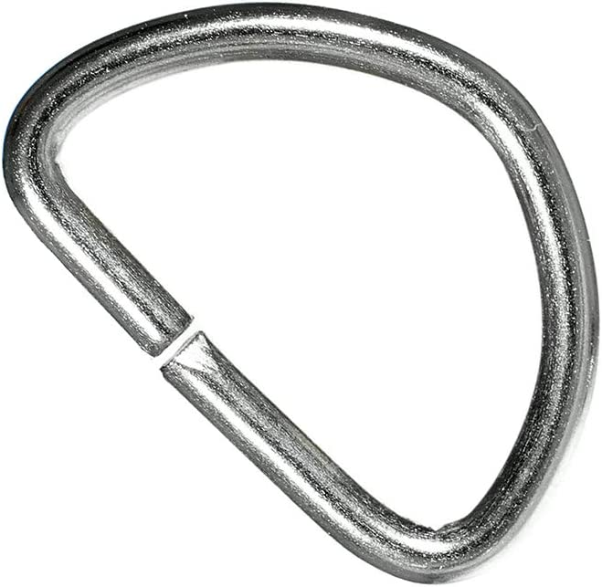 10 PARACORD PLANET 50 Silver Metal Material 100 Packs 25 Size Options of 5 1//2 inch Metal D-Rings