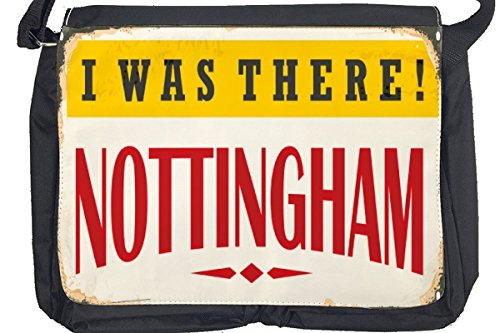 Borsa Tracolla Retro Arte Metropole Nottingham UK Stampato