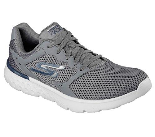 Skechers Performance Men's Go Run 400 Running Shoe, Charcoal/Navy, 8.5 M US