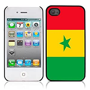 The national flag of Senegal Hard Plastic and Aluminum Back Case for Apple iphone 4 4S